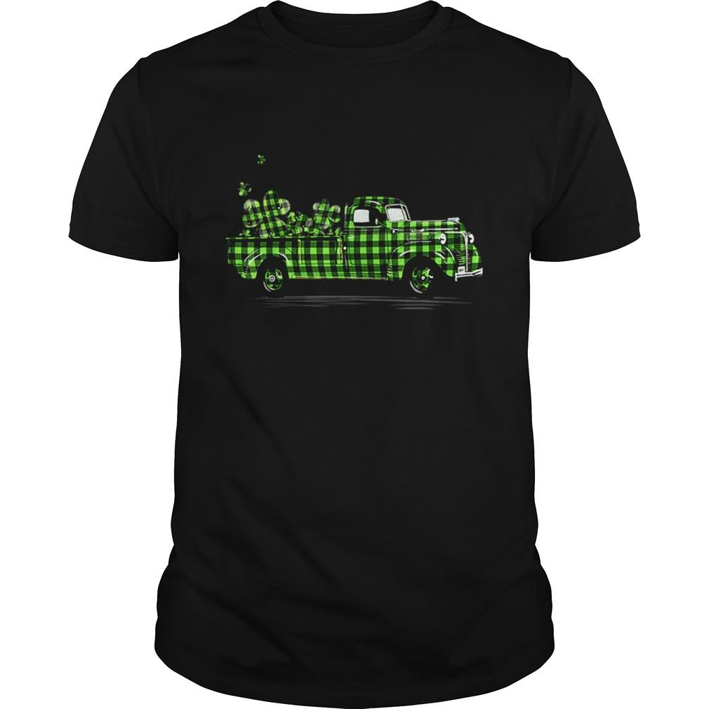 Buffalo Plaid Shamrock Pickup Truck Cute St Patricks Day shirt Classic Men's