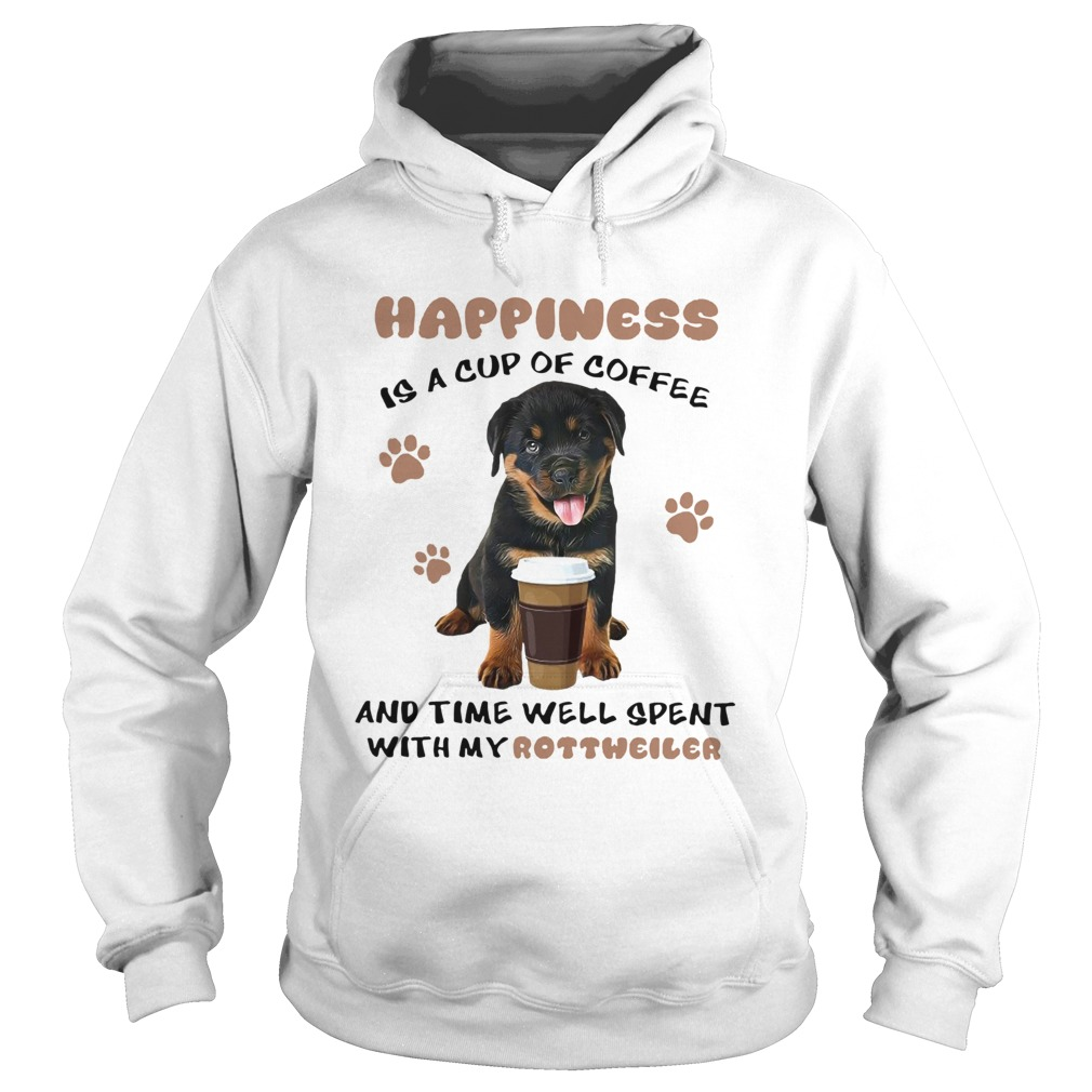 coffee and time well spent with rottweiler  hoodie