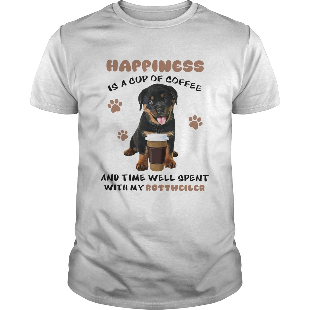 Coffee And Time Well Spent With Rottweiler shirt Classic Men's