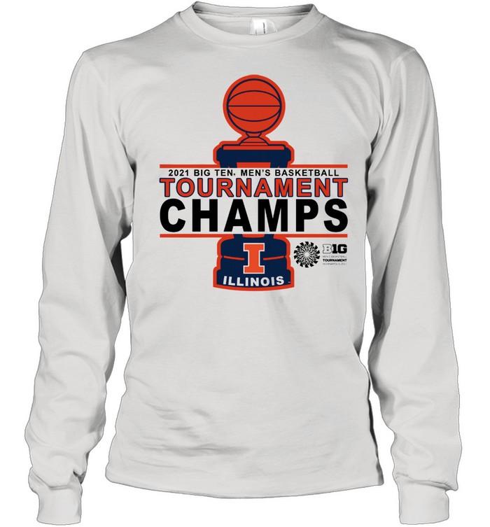 Illinois Basketball 20 21 Tournament Championship shirt Long Sleeved T-shirt