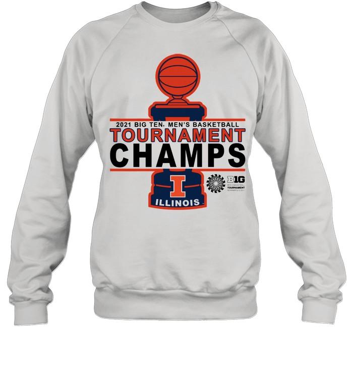 Illinois Basketball 20 21 Tournament Championship shirt Unisex Sweatshirt