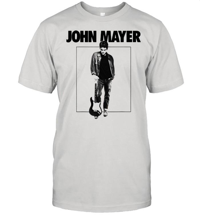 John Mayer Playing Guitar Music  Classic Men's T-shirt