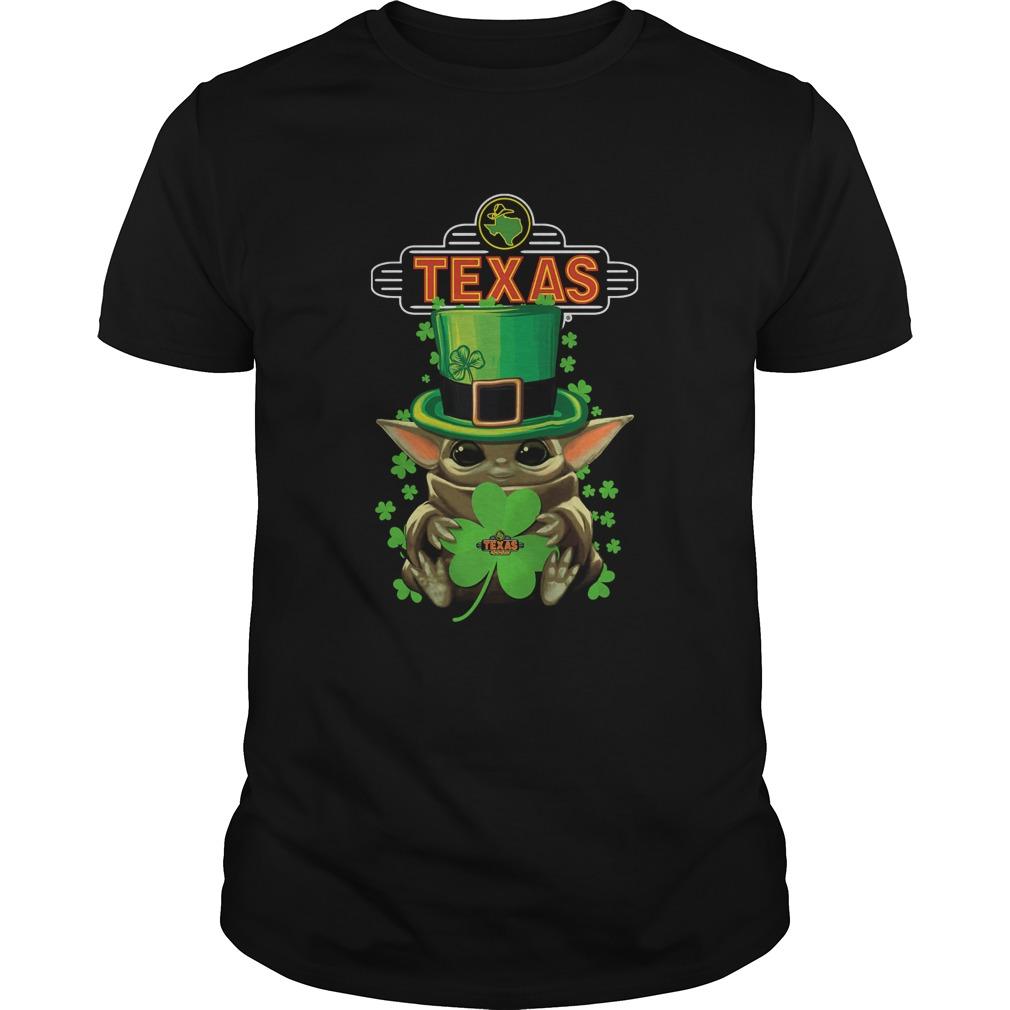 St Patricks Day Baby Yoda Hug Texas Roadhouse shirt Classic Men's