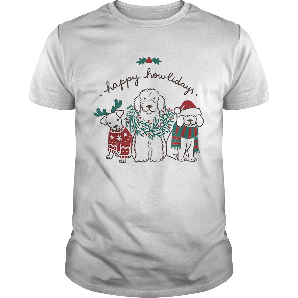 Happy Howlidays Funny Dog Christmas shirt Classic Men's