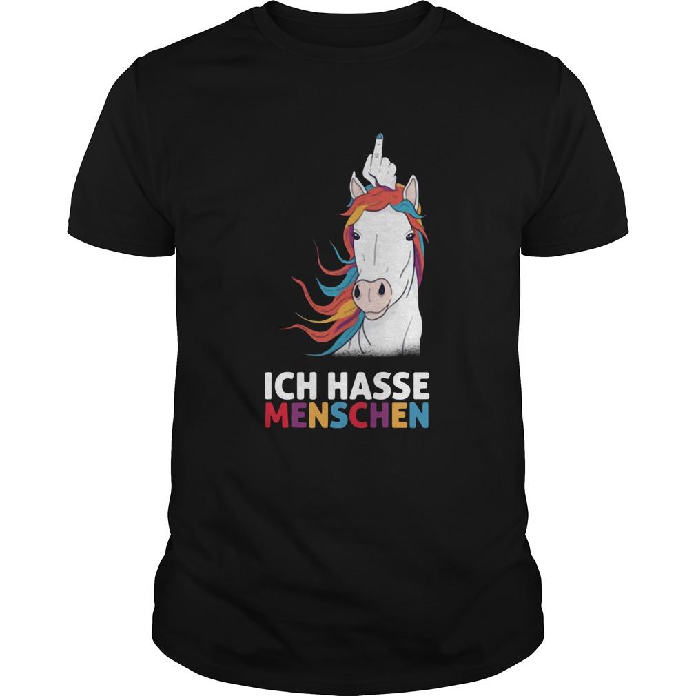 Unicorn Ich Hasse Menschen shirt Classic Men's