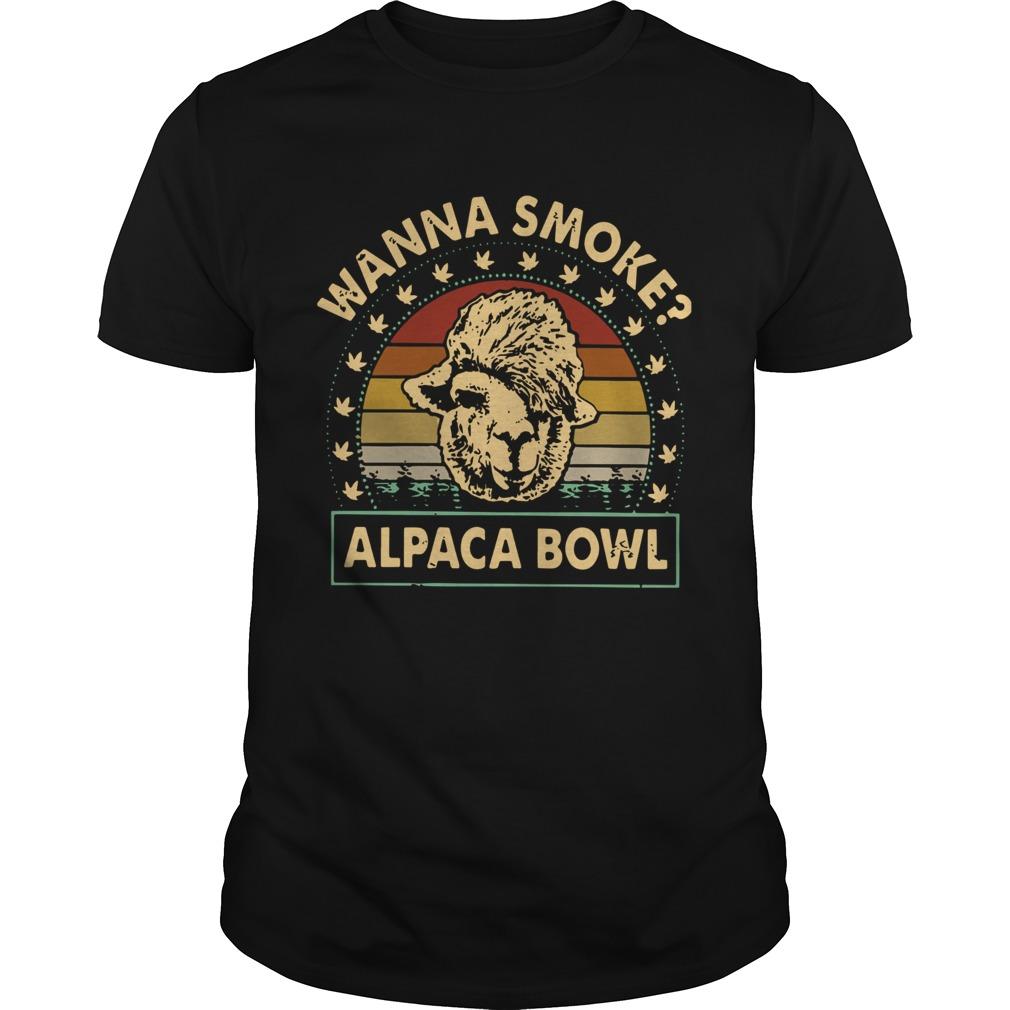 Vintage Wanna Smoke Alpaca Bowl shirt Classic Men's