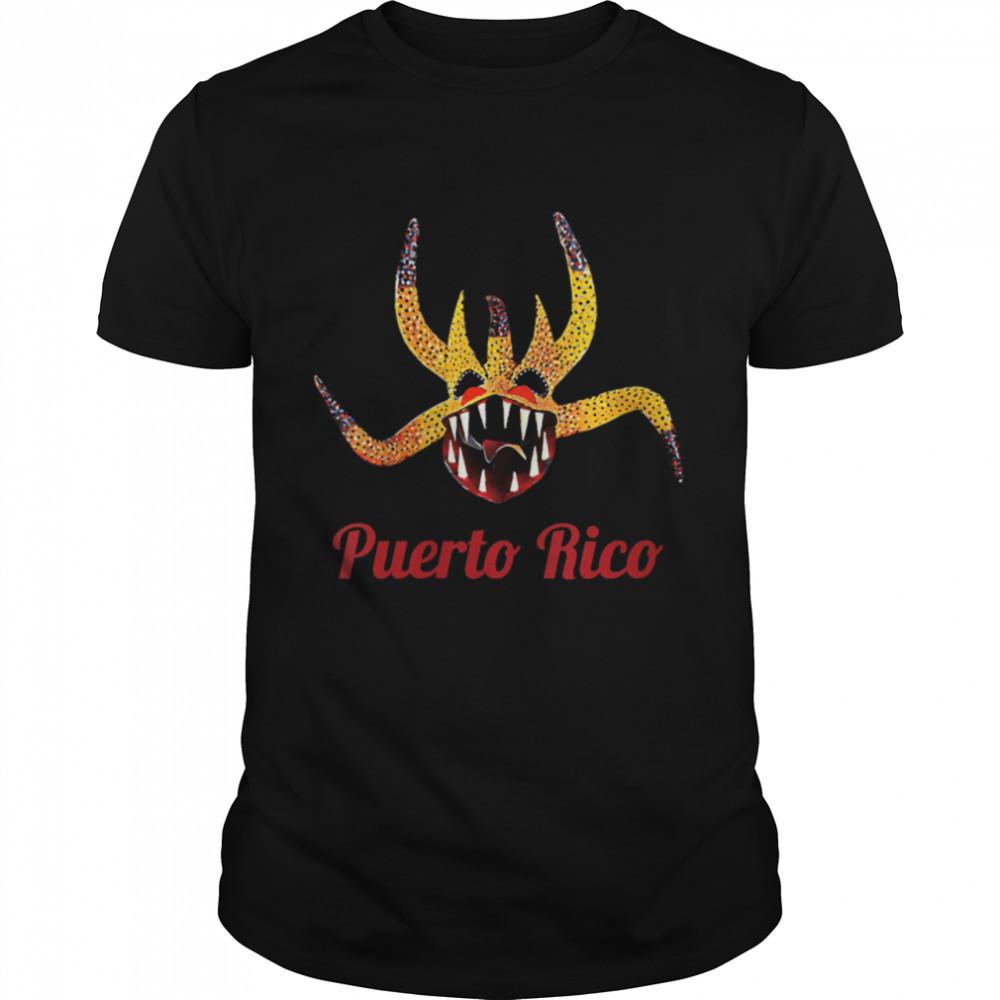 Boricua Puerto Rico Salsa Plena Vejigante Fiesta Patronales shirt