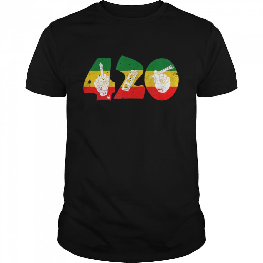 Graphic 420 Weed Marijuana Cannabis Pot Joint Smokers shirt