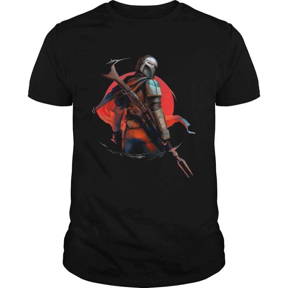 Star Wars The Mandalorian IG11 Battle Ready For shirt Classic Men's