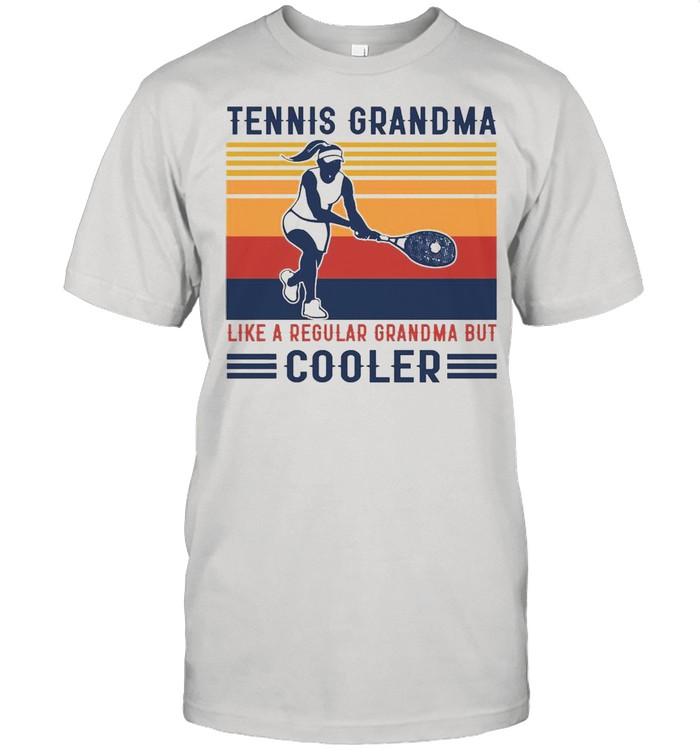 Tennis Grandma Like A Regular Grandma But Cooler Graphic T-shirt