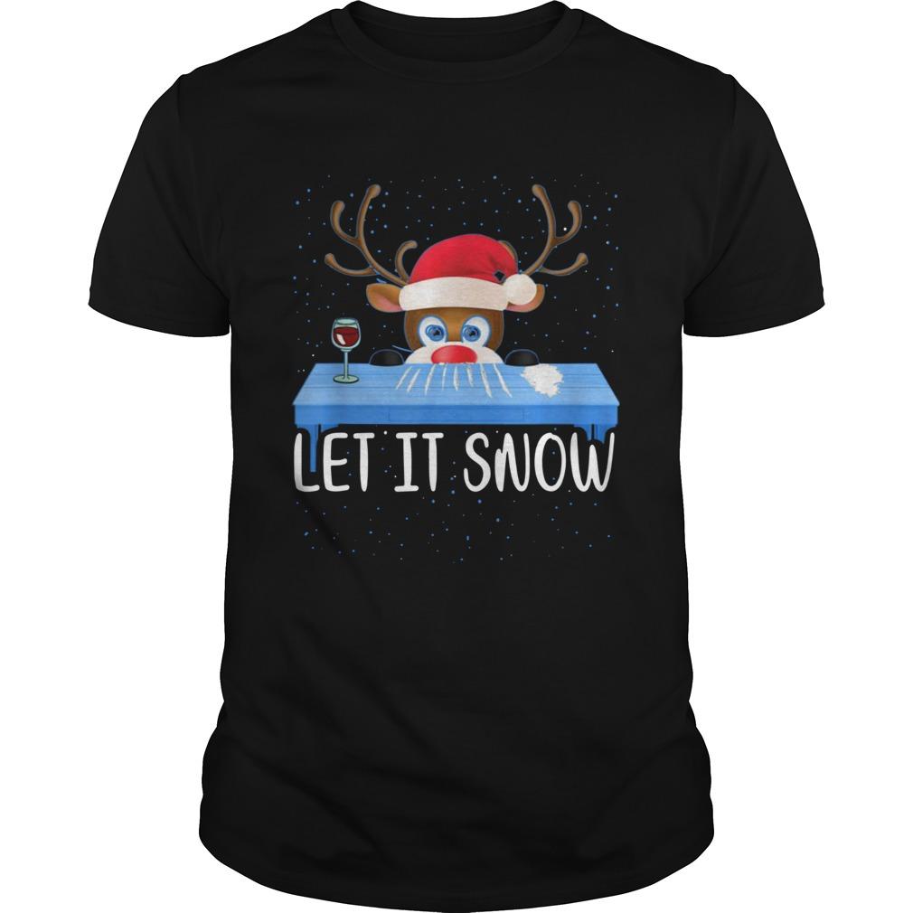 Walmart Cocaine Santa Reindeer Let It Snow shirt Classic Men's