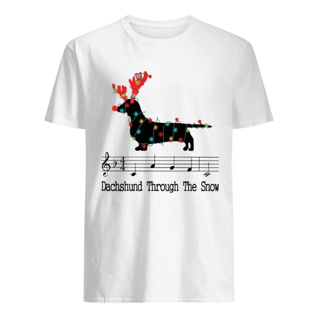 Dachshund Through The Snow Christmas Lights shirt Classic Men's