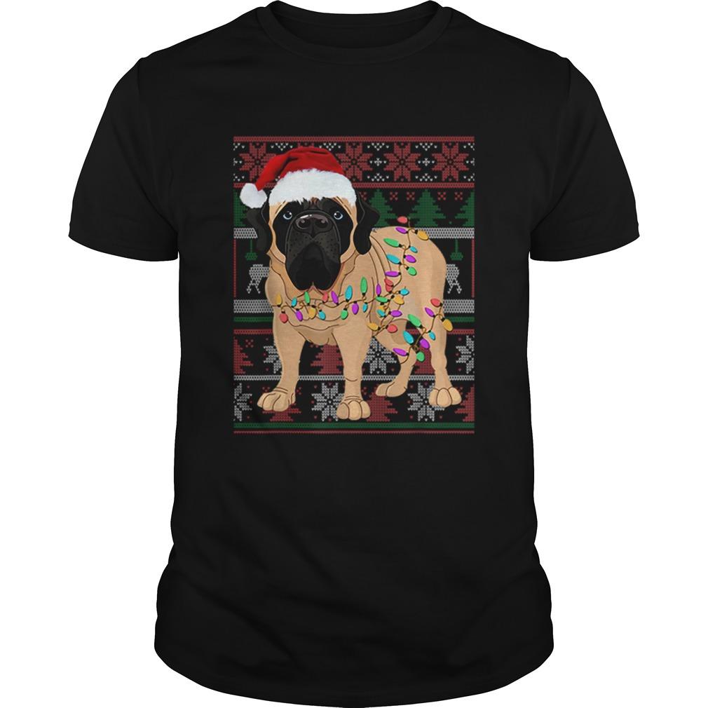 English Mastiff Ugly Sweater Christmas Gift shirt Classic Men's