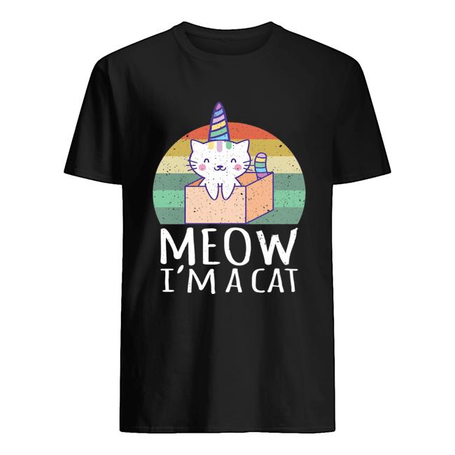 Meow I'm a Cat vintage shirt Classic Men's