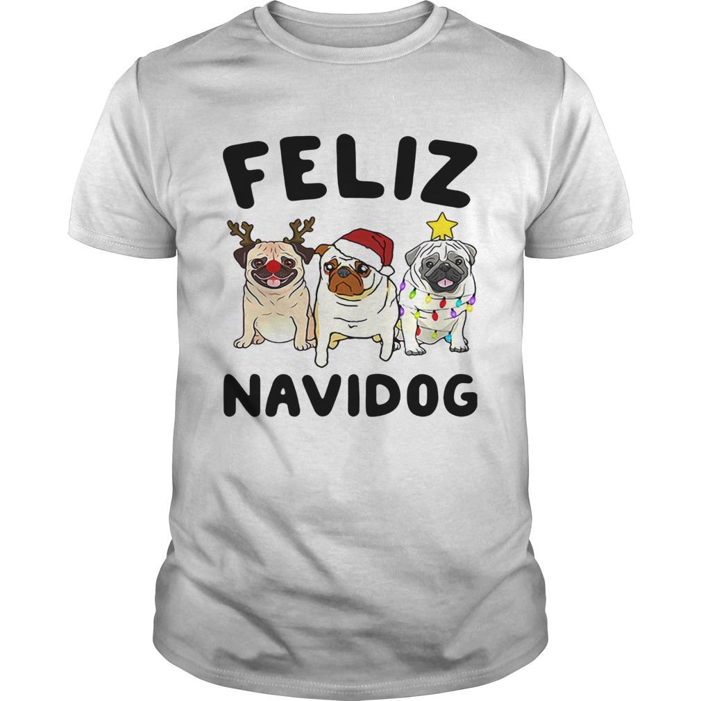 Pugs feliz navidog Christmas shirt Classic Men's