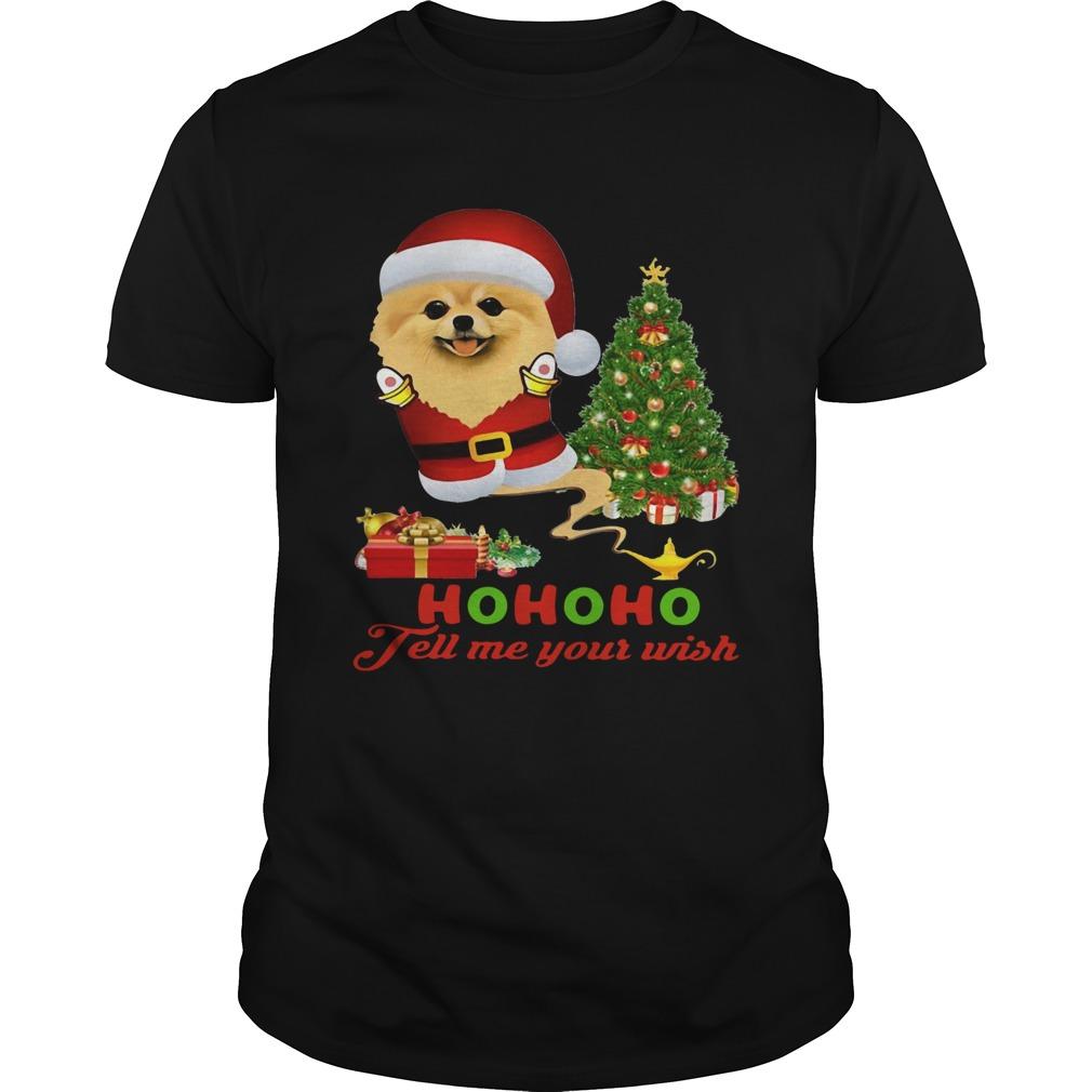 Qhn 8 Tell Me Your Wish Christmas Pomeranian shirt Classic Men's