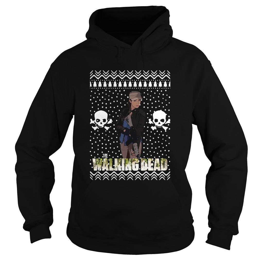 the walking dead rosita espinosa santa hat christmas  hoodie