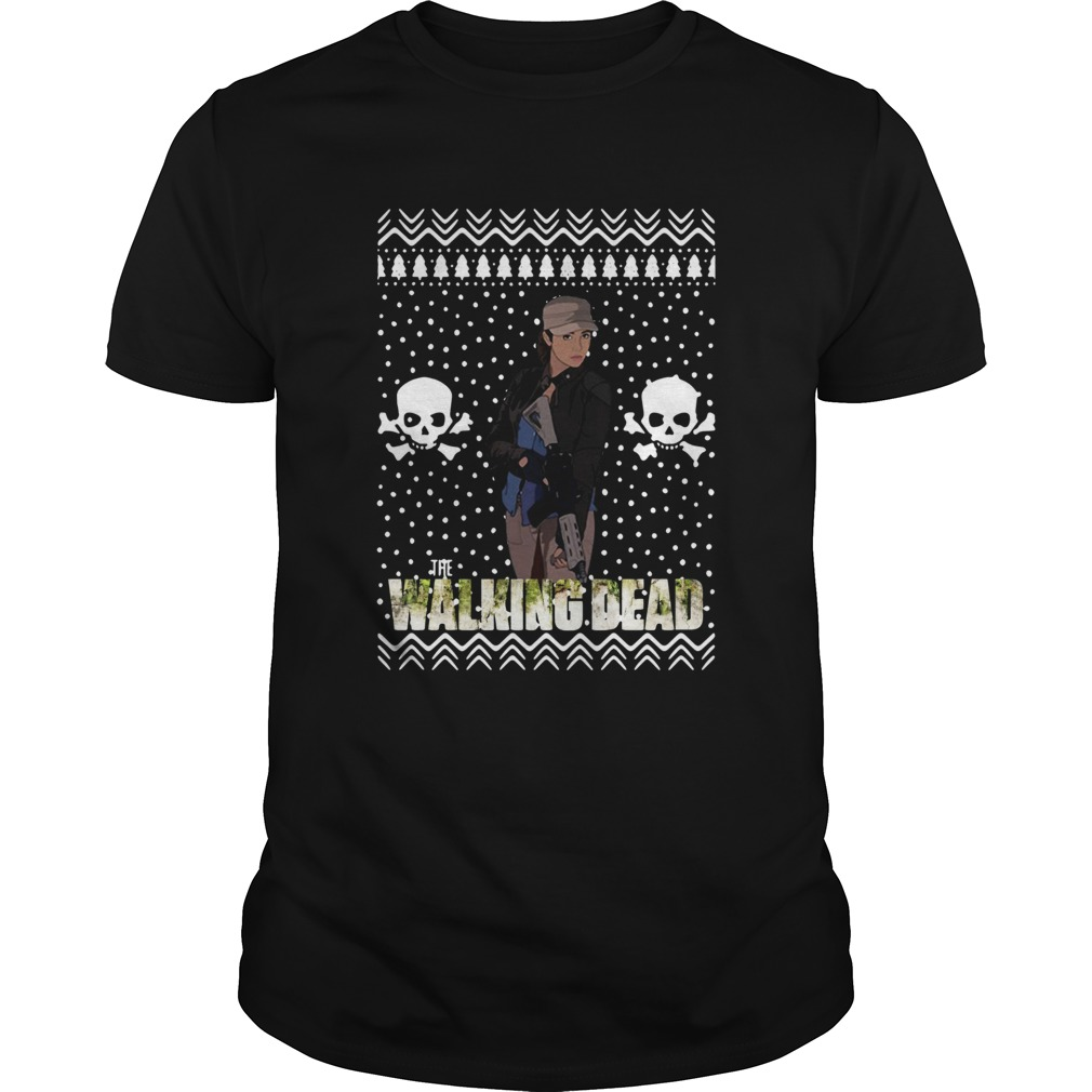 The Walking Dead Rosita Espinosa Santa Hat Christmas shirt Classic Men's