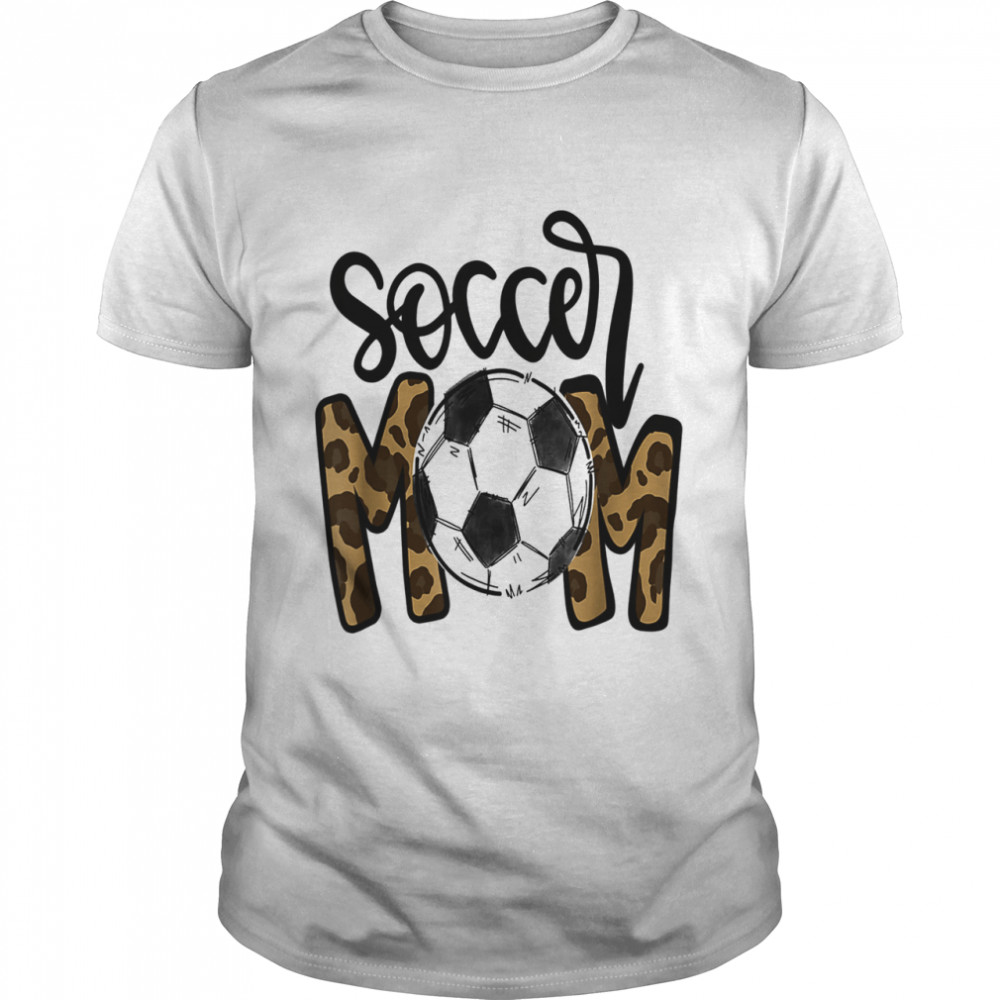 Awesome Mother's Day 2021 Soccer Mom Leopard  Classic Men's T-shirt