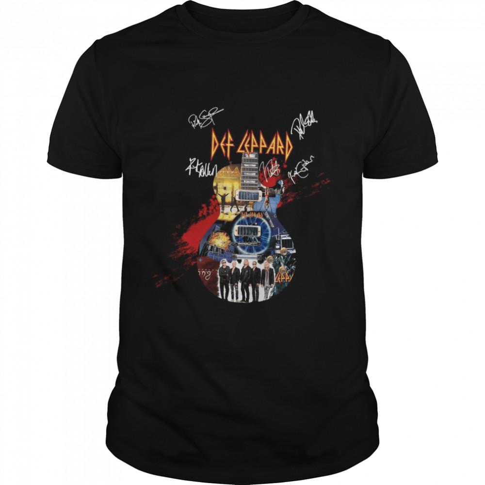 Eclectric Guitar Def Leppard shirt Classic Men's T-shirt