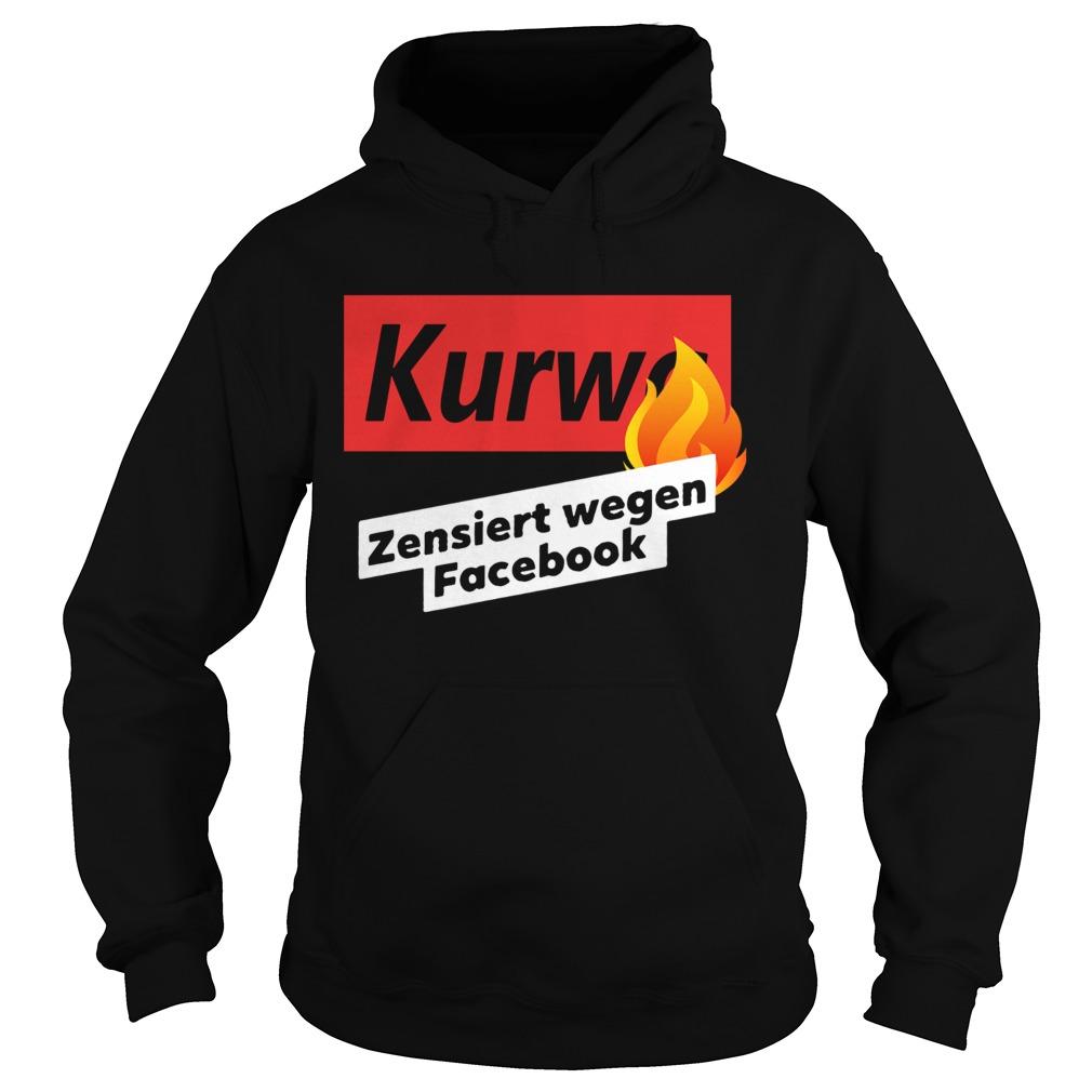 kurwa zensiert wegen facebook  hoodie