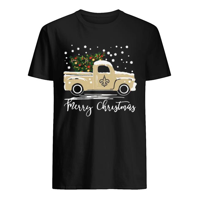 New Orleans Saints Truck Merry Christmas shirt Classic Men's