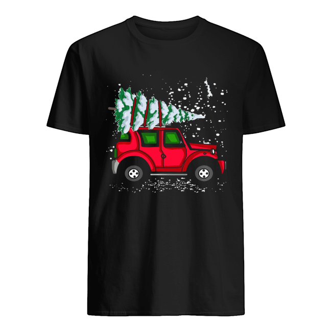 Red Jeep With Pine Tree Christmas shirt Classic Men's