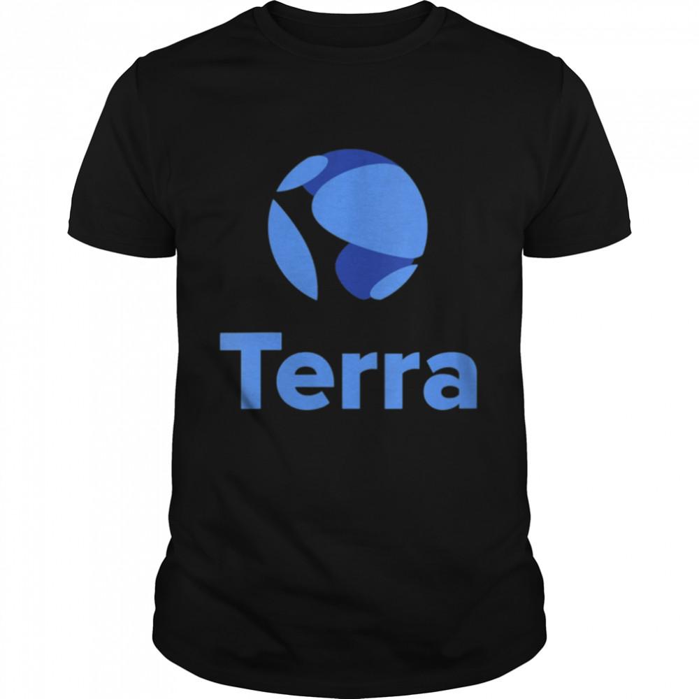 Terra LUNA Logo Image Cryptocurrency  Classic Men's T-shirt