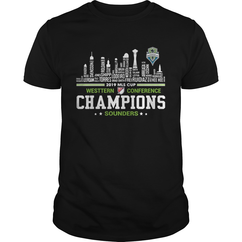2019 MLS Cup Western Conference Champions Sounders building shirt Classic Men's
