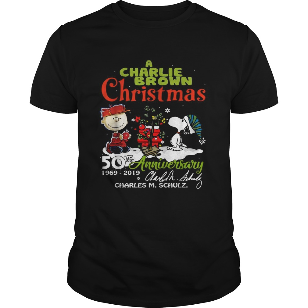 A Charlie Brown Christmas 50th Anniversary 1969-2019 signature shirt Classic Men's