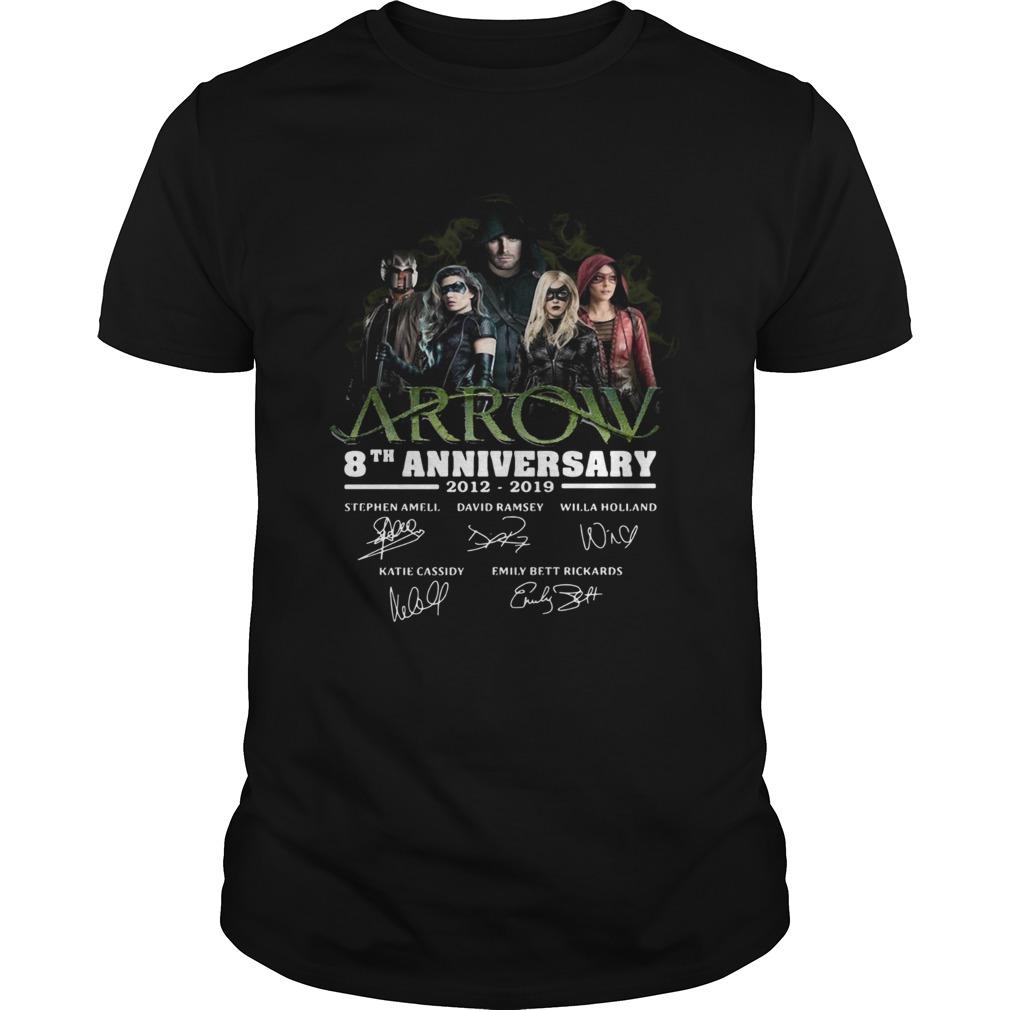 Arrow 8th Anniversary 20122019 Signatures shirt Classic Men's
