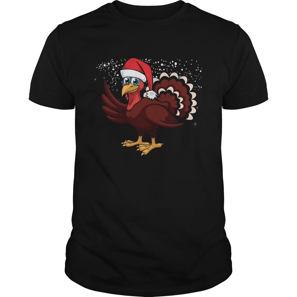 Christmas Turkey Santa Hat shirt Classic Men's