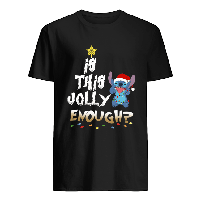 Is this Jolly Enough Stitch Christmas shirt Classic Men's