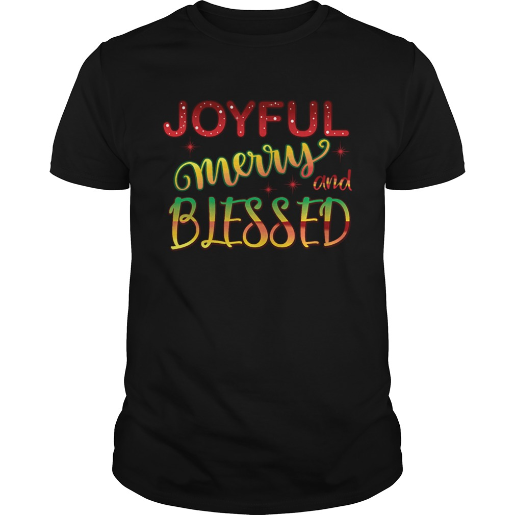 Joyful Merry and Blessed Christmas Cute Holiday shirt Classic Men's