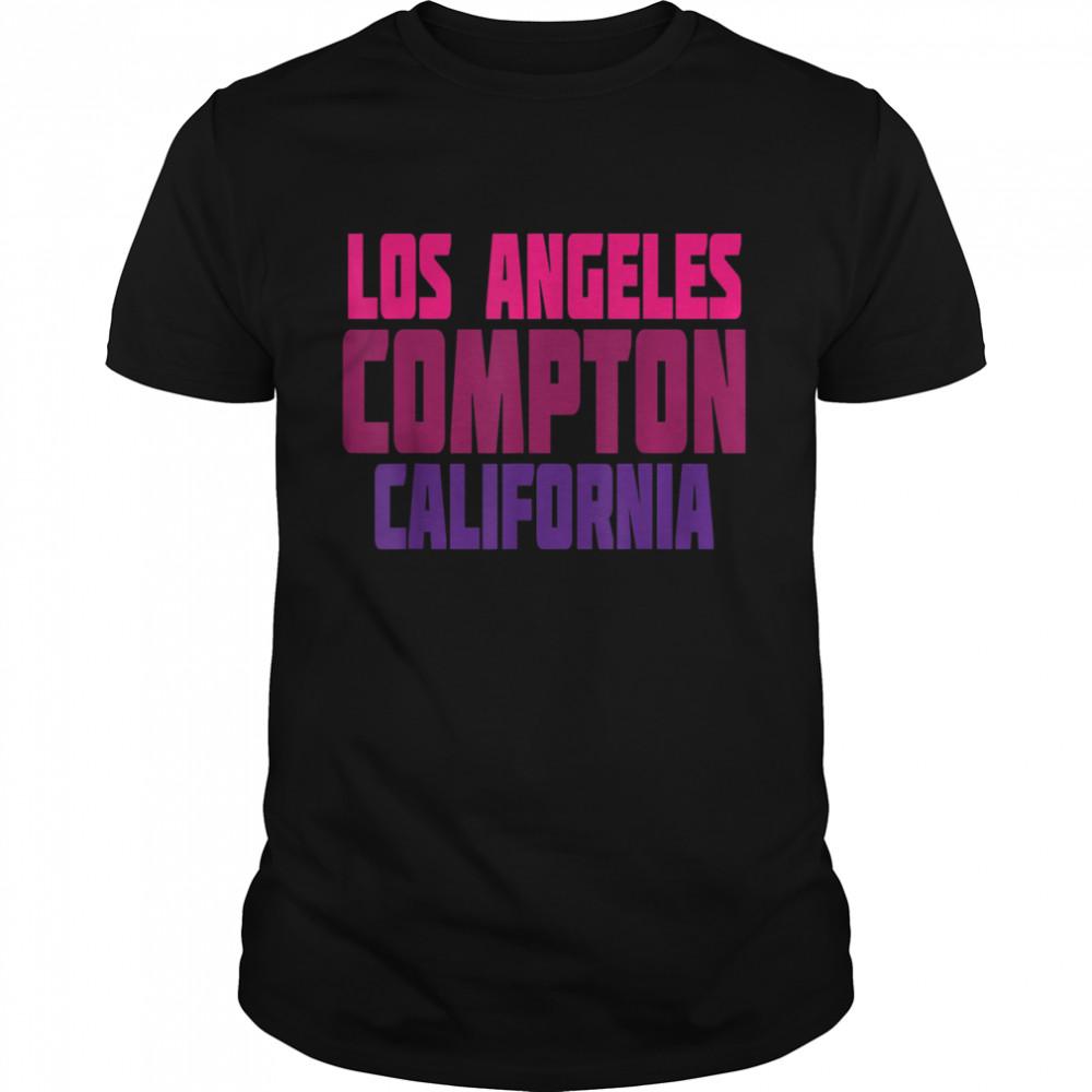 Los Angeles Compton California Retro Vintage Typography Shirt