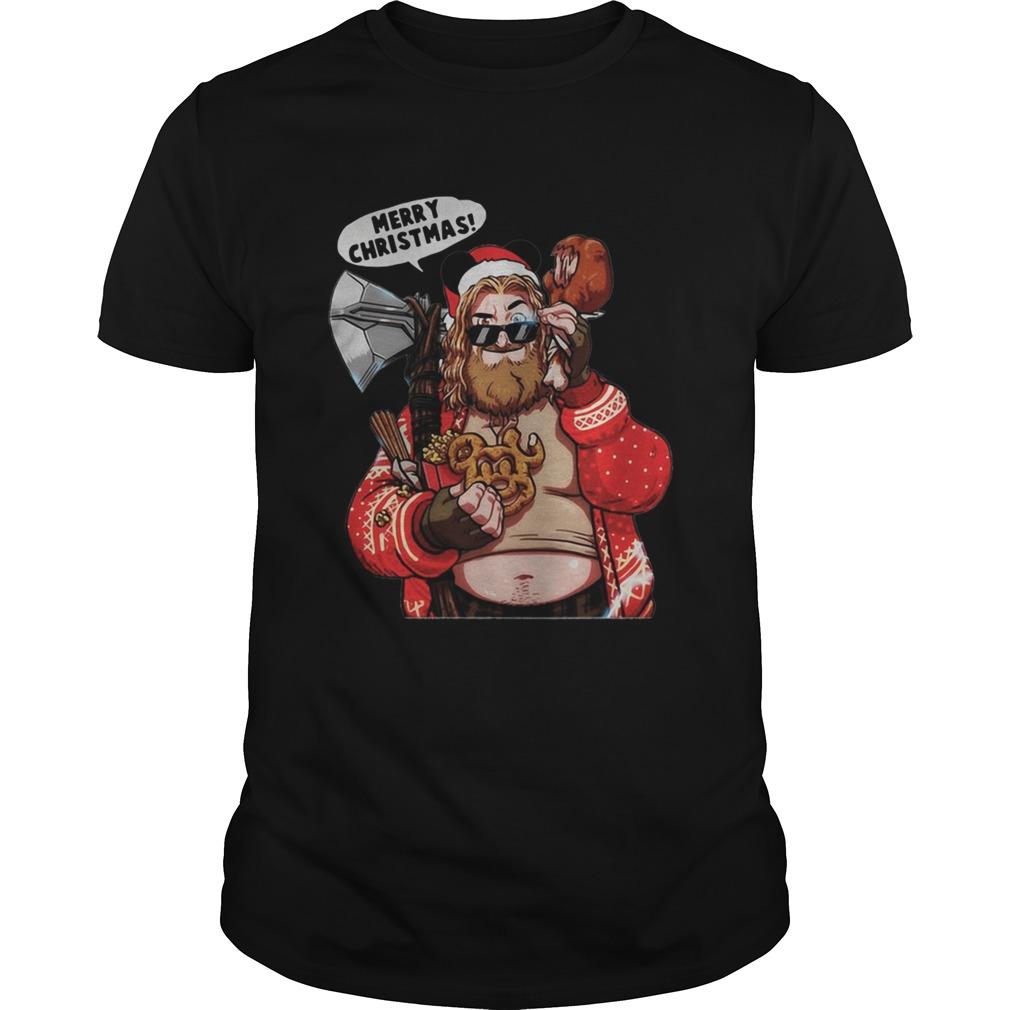 Marvel Avengers endgame Fat Thor Merry Christmas shirt Classic Men's