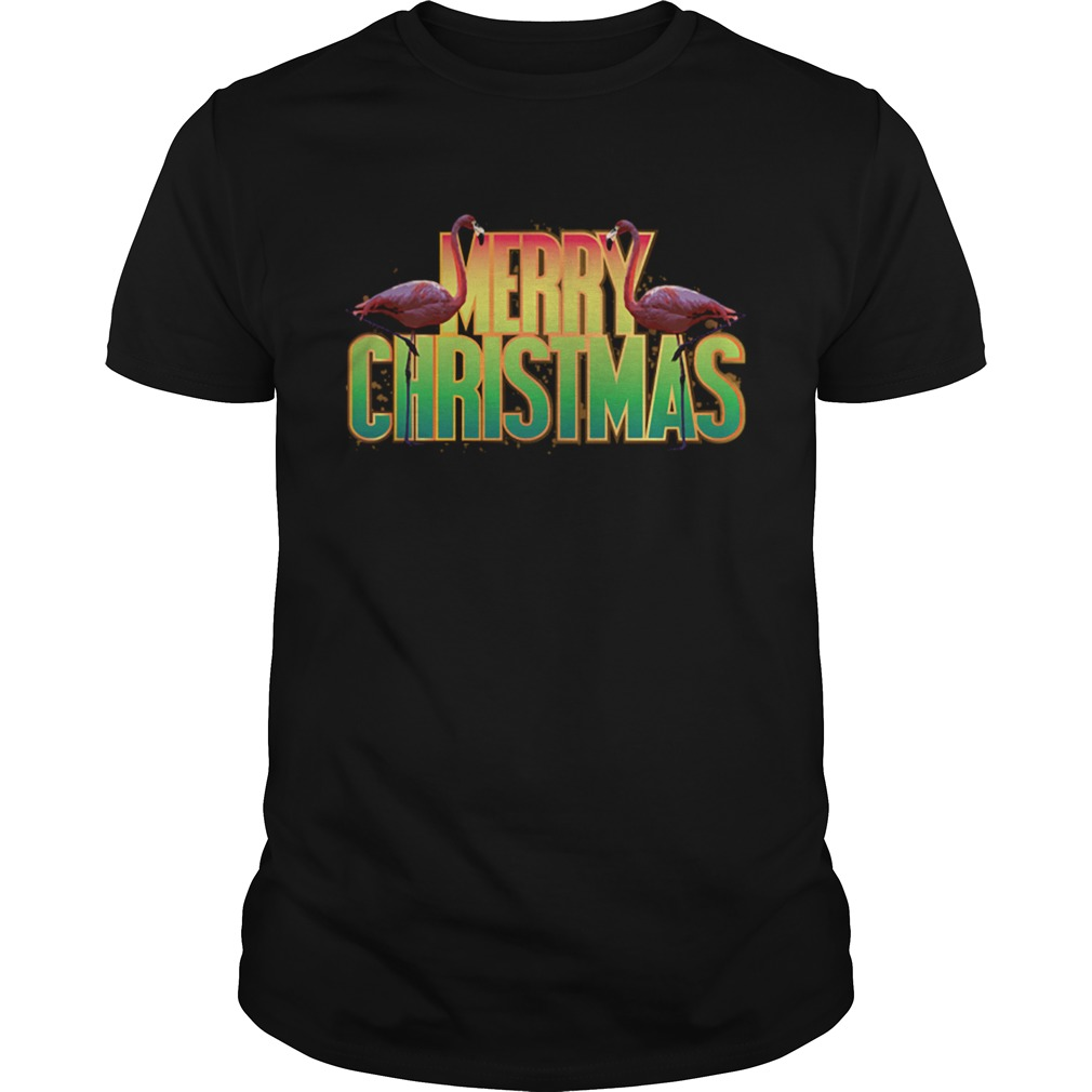 Merry Christmas Pink Flamingo Holiday Graphic shirt Classic Men's