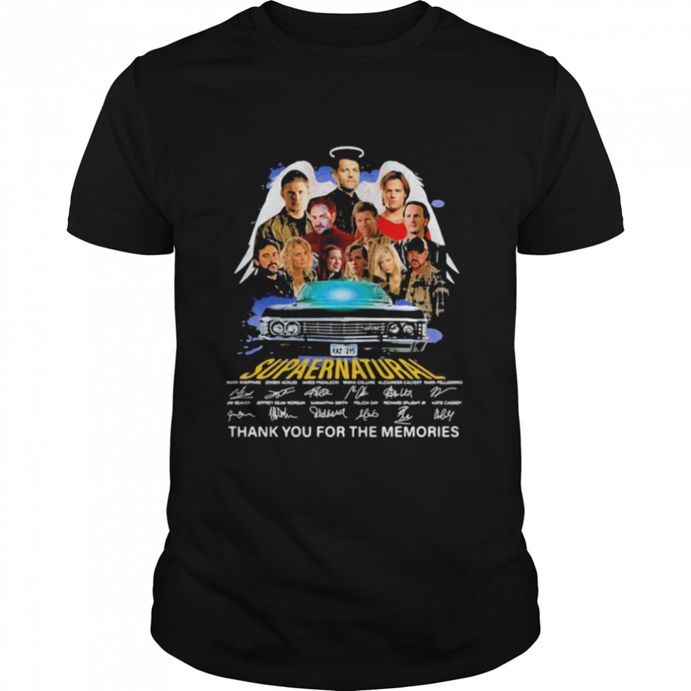 Supper Natural Thank You For The Memories Signatures Shirt