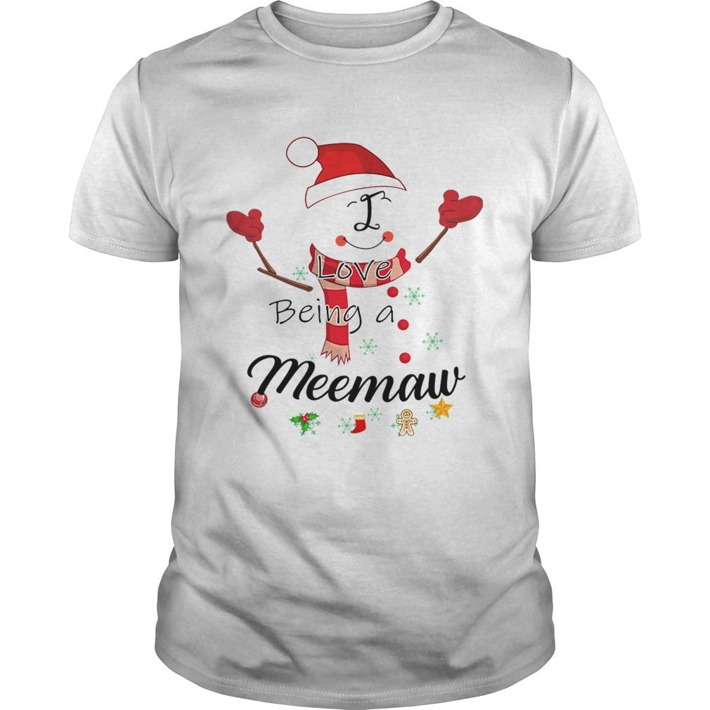 Christmas I Love Being A Meemaw Snowman shirt Classic Men's