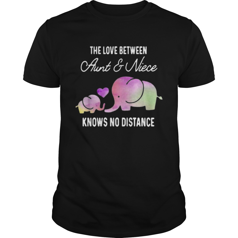 Elephants the love between aunt and niece knows no distance shirt Classic Men's
