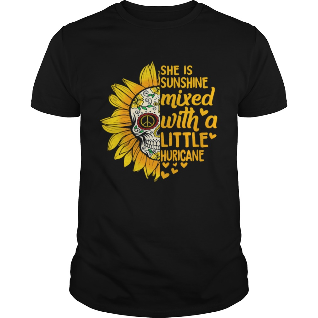 Flower Skull she is sunshine mixed with a little huricane shirt Classic Men's