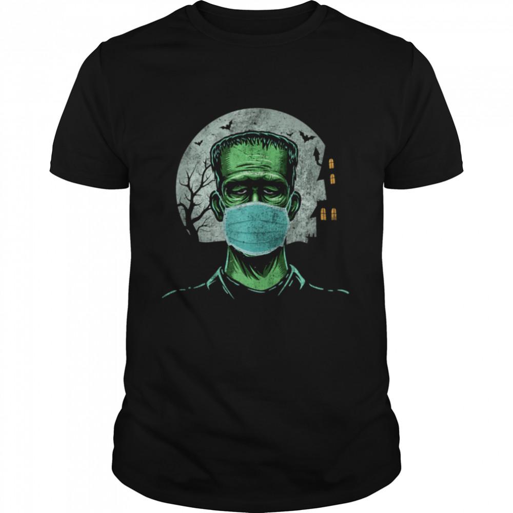 Frankenstein Wearing Mask  Classic Men's T-shirt