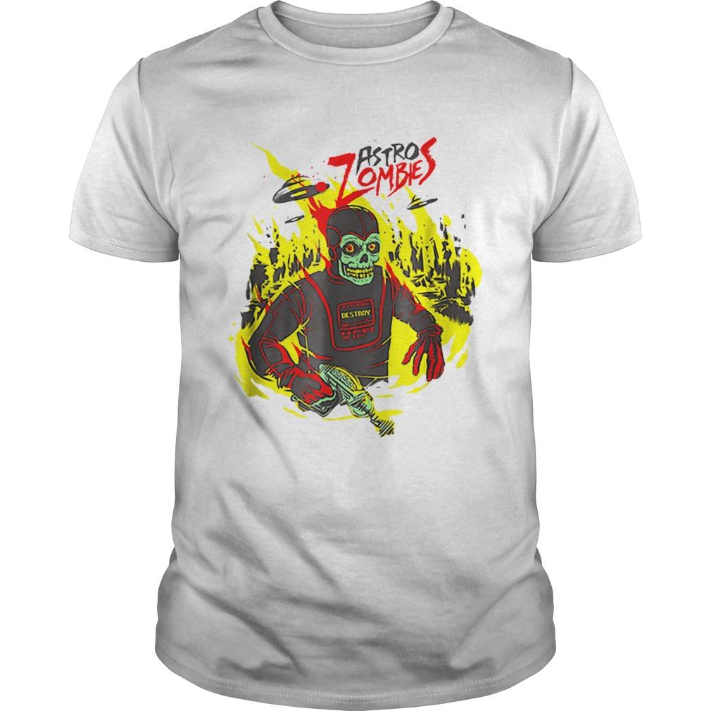 Halloween Astro Zombies Monster Scifi Gift Skate shirt Classic Men's
