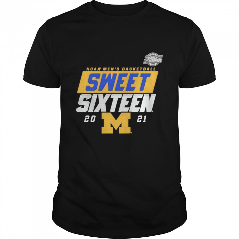 Michigan Wolverines 2021 NCAA Mens Basketball sweet sixteen shirt Classic Men's T-shirt