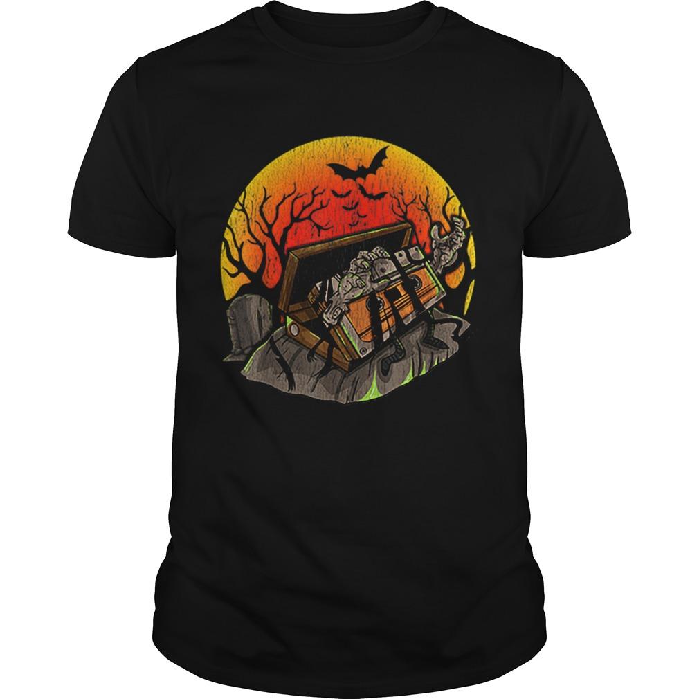 Retro Vintage creepy Zombie 80 90 Music Cassette Halloween shirt Classic Men's