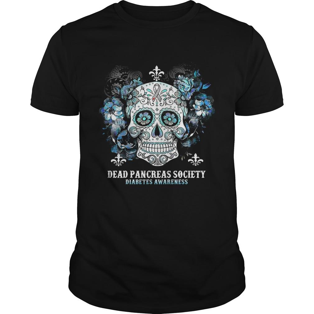 Skull Cancer Dead Pancreas Society Diabetes Awareness shirt Classic Men's