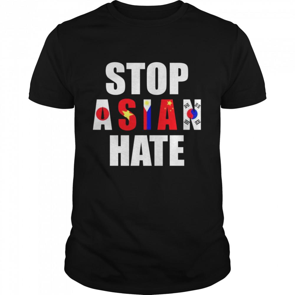 Stop Asian Hate Japan Vietnam Philippin China Korea shirt Classic Men's T-shirt