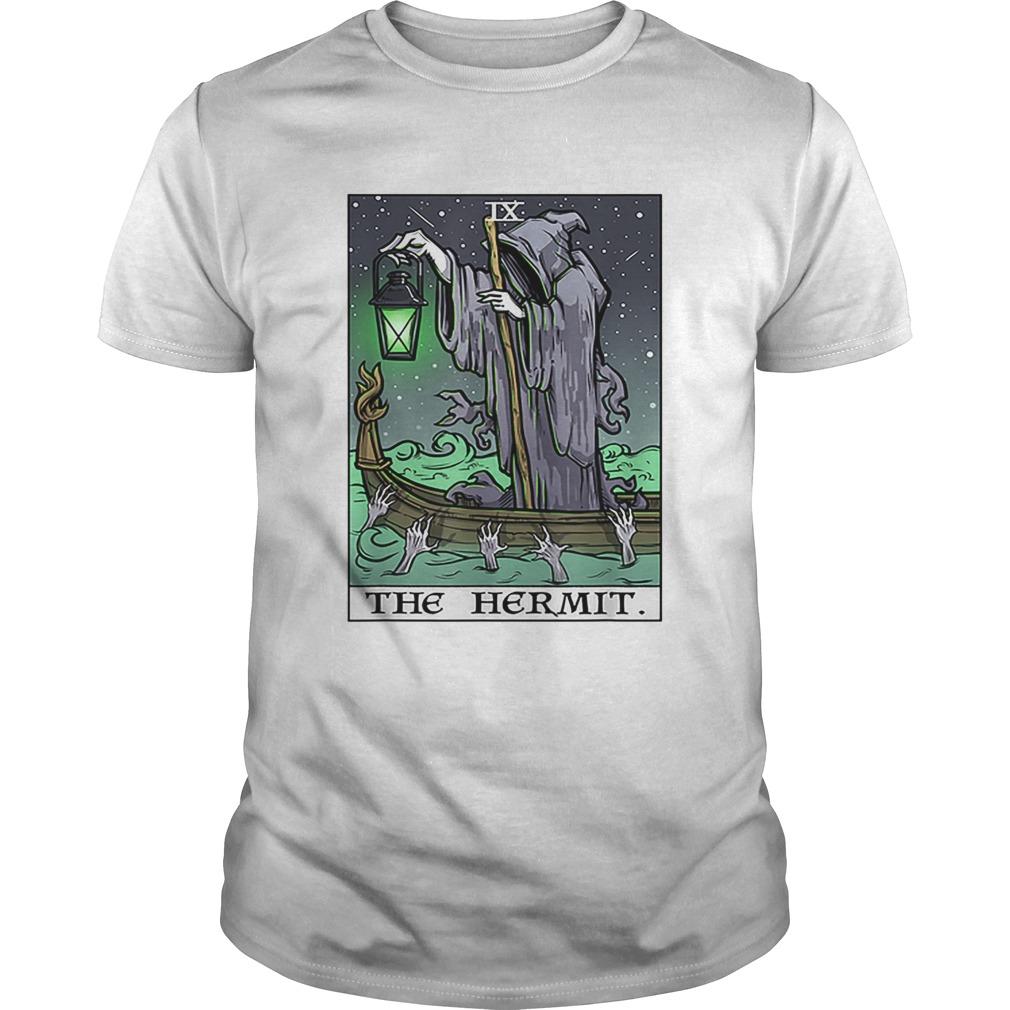 The Hermit Tarot Card Gothic Halloween Grim Reaper Goth Gift shirt Classic Men's