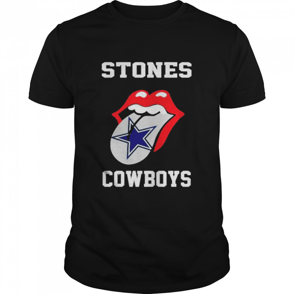 The Rolling Stones Dallas Cowboys lips shirt Classic Men's T-shirt