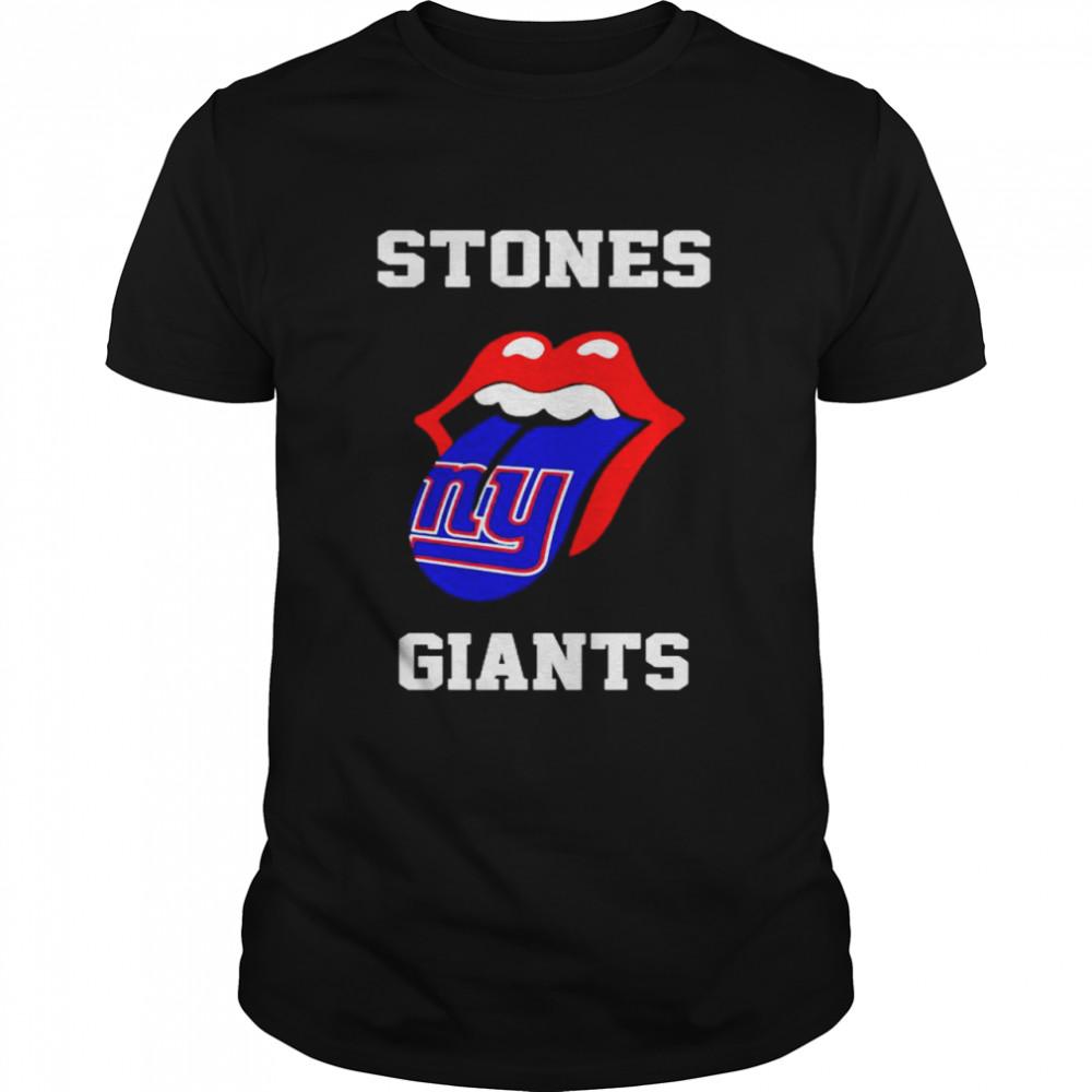 The Rolling Stones New York Giants lips shirt Classic Men's T-shirt